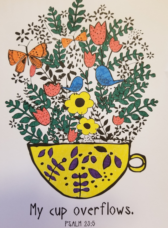 coloring cup